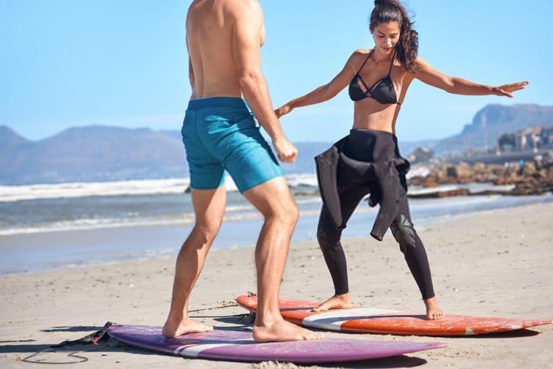 learn how to surf on beach