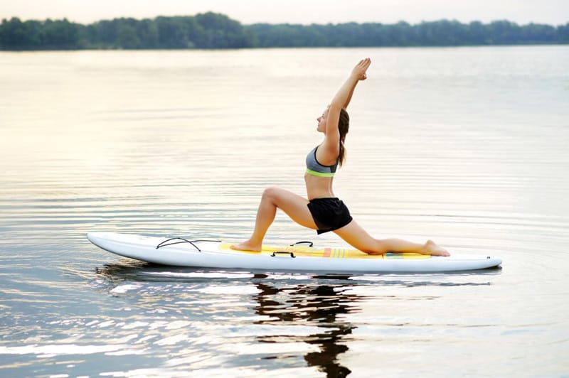 inflatable paddle board use for yoga